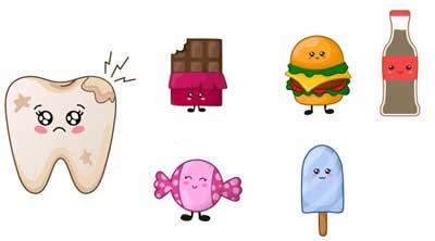 Studio Dentistico dott.ri Paolo e Cristina Papa | Medici Chirurghi Odontoiatri a Napoli: troppi alimenti che contengono zuccheri causano la proliferazione dei batteri sui denti